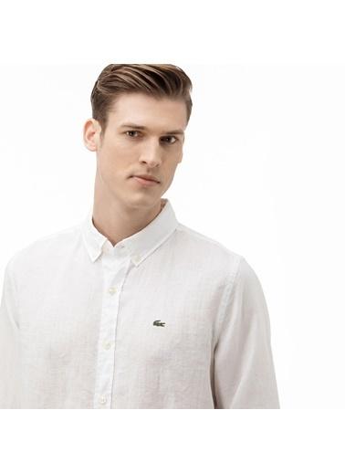 Lacoste Erkek  Gömlek CH4990.001 Beyaz